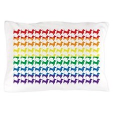 Rainbow Doxies Pillow Case