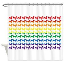 Rainbow Doxies Shower Curtain
