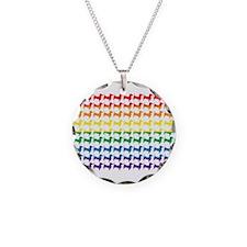Rainbow Doxies Necklace