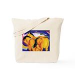 YELLOW HORSES Tote Bag