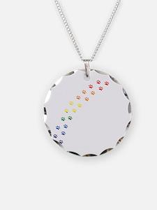 Rainbow Paws Necklace