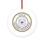 Coast Guard Enlisted Association Ornament (Round)