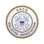 "Coast Guard Enlisted Association 3.5"" Button"