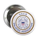 "Coast Guard Enlisted Association 2.25"" Button"