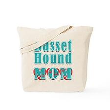 Basset Hound Mom Hearts Tote Bag
