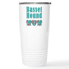 Basset Hound Mom Hearts Travel Mug
