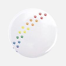 "Rainbow Paws 3.5"" Button"