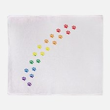 Rainbow Paws Throw Blanket