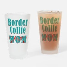 Border Collie Mom Hearts Drinking Glass