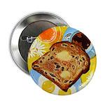 """Raisin Toast 2.25"""" Button (10 pack)"""