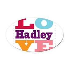 I Love Hadley Oval Car Magnet