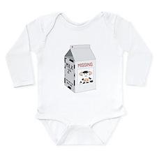 Milk Carton Long Sleeve Infant Bodysuit