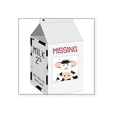"""Milk Carton Square Sticker 3"""" x 3"""""""