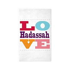 I Love Hadassah 3'x5' Area Rug