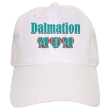 Dalmation Mom Hearts Baseball Cap