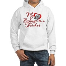 My Heart Belongs to a Trucker Jumper Hoody