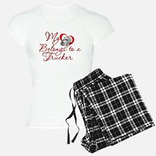 My Heart Belongs to a Trucker Pajamas