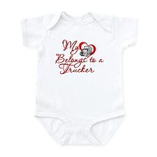 My Heart Belongs to a Trucker Infant Bodysuit