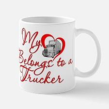 My Heart Belongs to a Trucker Mug