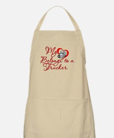 My Heart Belongs to a Trucker Apron