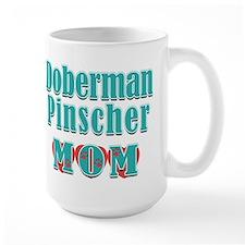 Doberman Pinscher Mom Hearts Mug