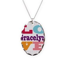 I Love Gracelyn Necklace Oval Charm
