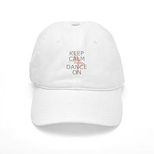 Modern Keep Calm and Dance On Baseball Cap