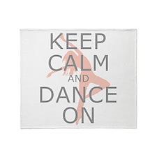 Modern Keep Calm and Dance On Throw Blanket