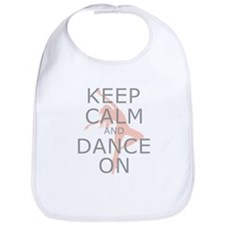 Modern Keep Calm and Dance On Bib
