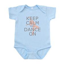Modern Keep Calm and Dance On Infant Bodysuit