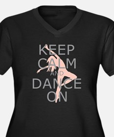 Modern Keep Calm and Dance On Women's Plus Size V-