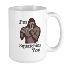 Im-Squatching-You-Brown Mugs