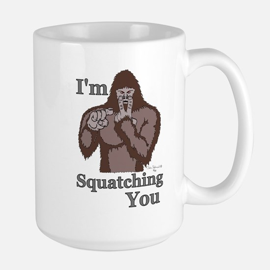 Im-Squatching-You-Brown Mugs