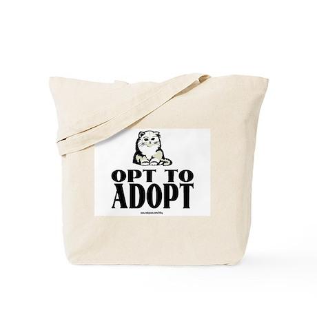 Opt To Adopt (cat) Tote Bag