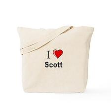 i love Scott heart tee Tote Bag