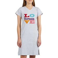 I Love Giovanna Women's Nightshirt