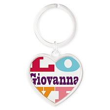 I Love Giovanna Heart Keychain
