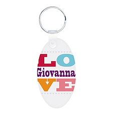 I Love Giovanna Aluminum Oval Keychain
