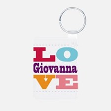 I Love Giovanna Aluminum Photo Keychain