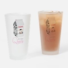 Non-Dairy Queen Drinking Glass