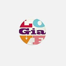 I Love Gia Mini Button