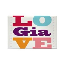 I Love Gia Rectangle Magnet