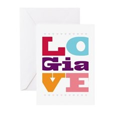 I Love Gia Greeting Cards (Pk of 20)