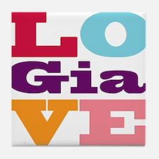 I Love Gia Tile Coaster