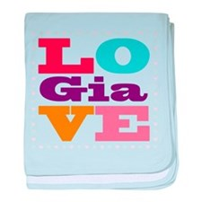 I Love Gia baby blanket
