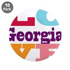 "I Love Georgia 3.5"" Button (10 pack)"