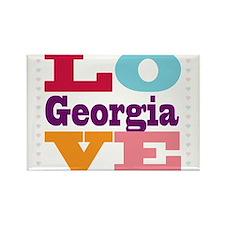 I Love Georgia Rectangle Magnet