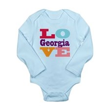 I Love Georgia Long Sleeve Infant Bodysuit