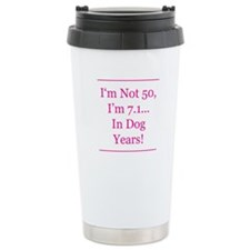 Cute 50th birthday Travel Mug