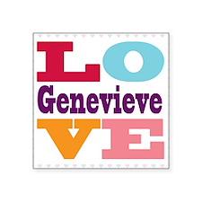 "I Love Genevieve Square Sticker 3"" x 3"""
